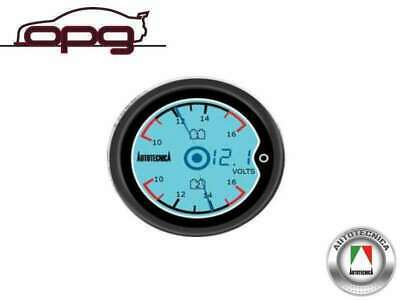 Performance Lcd Digital Dual / Twin Battery Volts Gauge 52Mm 7 Colour