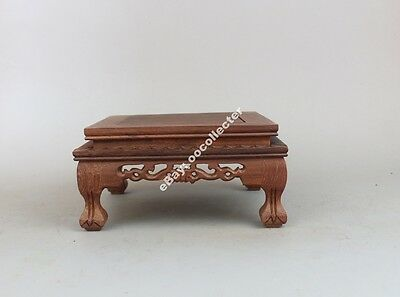 stand pedestal China brown wood square display Chinese vase figure wooden base