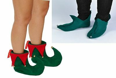 Elf Pixie Shoe Covers Xmas Elf Shoes With Bells Unisex Christmas Fancy Dress