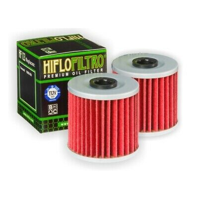 HI-FLO HF123 OIL FILTER 2 PACK FOR KAWASAKI KL650 ( KLR650 ) 1987 to 2015