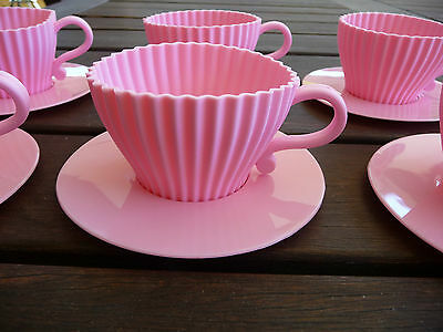 SILICON BAKING TEA CUPS - Set of 6 - PINK - New Never Used - P/Up Avail 3166