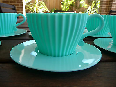 SILICON BAKING TEA CUPS - Set of 6 - MINT GREEN*New Never Used - P/Up Avail 3166