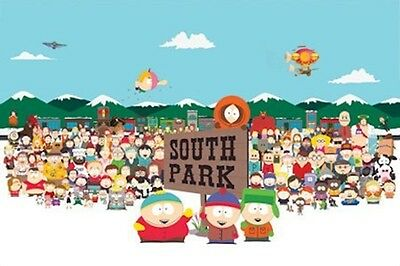 COMEDY CENTRAL SOUTH PARK CAST POSTER 36x24 NEW FREE SHIPPING