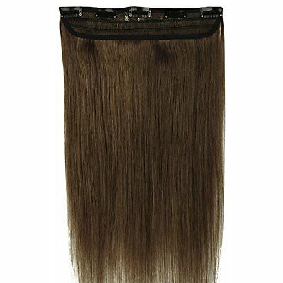 55cm Extension Clip Capelli Veri Umani 1pz 5 Clips AAAAA Remy Human Hair Allunga