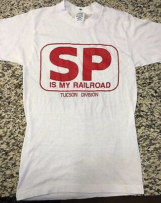 Southern Pacific Is My Railroad Vintage T-shirt Tuscon Division Size Small
