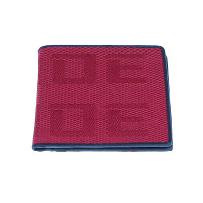 Mens Fabric BRIDE Credit Card Holder Racing Wallet Bifold Purse Red