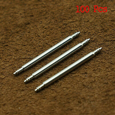 100 Pcs Stainless Steel Spring Bar Pins Link Watch Band Strap Chain Pin Remover