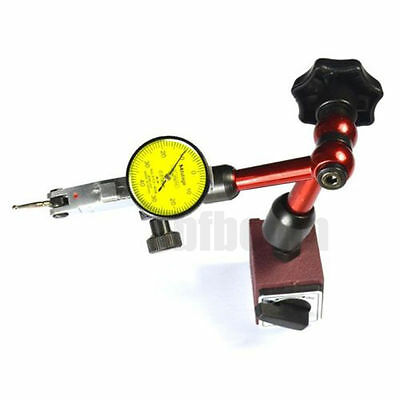 Magnetic Flexible Base Holder Stand + Dial Test Indicator Gauge Scale Precision