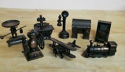 Lot Of 8 Diecast Metal Pencil Sharpeners Vintage Collectible Decorative