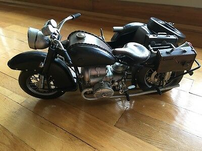 """1933 BMW Metal Motorcycle Model With Sidecar 15"""""""