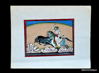 Rare Hand Painted Fine Decorative Collectible Indian Miniature Painting. G77-9