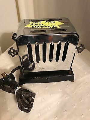 1930's K-M Company Reverso Electric Stainless Toaster