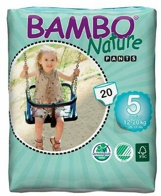 Bambo Nature Premium Baby Diapers, Training Pant , Size 5, 20 Count