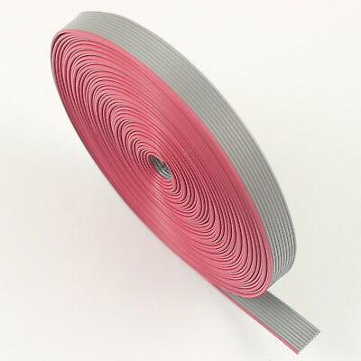 2M / 6.5FT 0.635mm Pitch 10 Pin Wire Flat Ribbon Cable For 1.27mm FC Connector