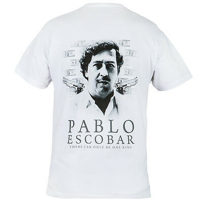 T-Shirt Pablo Escobar Narcos There Can Only Be One King 100% Cotton Casual Wears