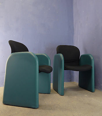1 of 5 AMAZING VINTAGE MODERNIST 1980 POP ART FAUX LEATHER ARMCHAIR EASY CHAIR • £139.00