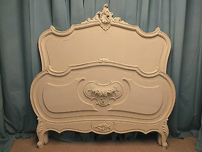 Beautiful French antique rococo bed