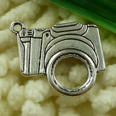 Free Ship 30 pieces tibetan silver camera charms 24x23mm #2366