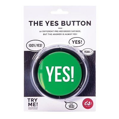 The Big Green Yes! Button - Fun For Your Kitchen, Office, Desk or Man Cave