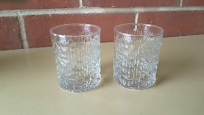 VINTAGE TWO  IITTALA FINLAND KEKKERIT Glasses  SWEDEN