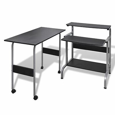Desk Computer Table Home Office Furniture Workstation Laptop Student Study Black