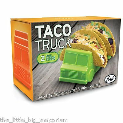 Taco Truck Taco Holder Tray Pack Of 2 -  Mexican Food Novelty Gift Safe Plastic