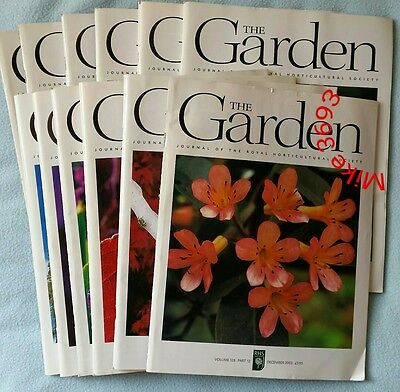 RHS The Garden Magazine 2003 January - December 12 issues
