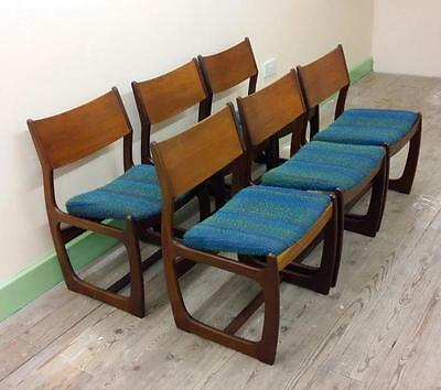 Set 6 Stylish Vintage Teak/afromosia Dining Chairs Mid Century G Plan Style