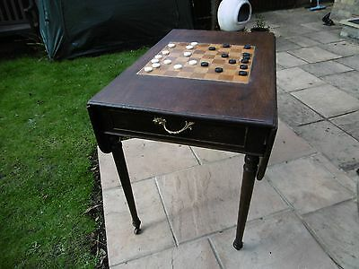 Drop-Leaf, Chess Board Table