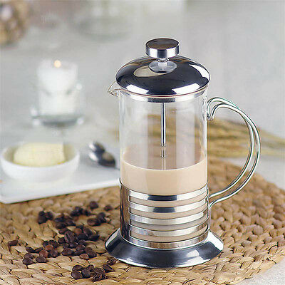 35-8000ml Stainless Steel Glass Coffee Cup French Plunger Press Tea Maker New