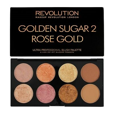 MakeUp REVOLUTION Golden Sugar 2 Palette (Blush, Bronze & Highlight) NEU&OVP