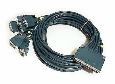 Cisco Octal Octopus 8-lead X.21 DTE Cable for PA-8T-X21, Male (CAB-OCT-X21-MT=)