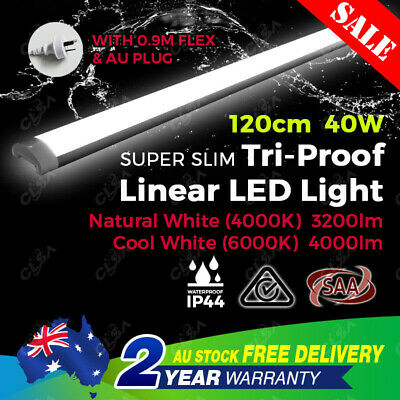 40W 4Ft 1200Mm Led Batten Light Slim Blade Replace T8 Fluorescent Tube Fitting