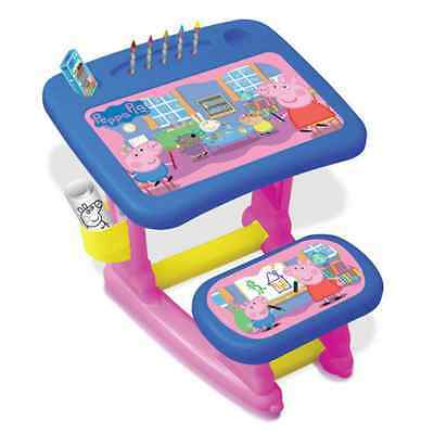 Peppa Pig Kids Colour Activity Desk With Seat And Fun Accessories - Pepc001