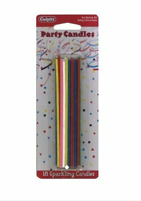 Sparkling, Glitter Birthday Candles. Sparkler candles, Boy & Girl Cake Candles