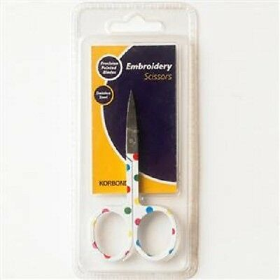 Korbond - Embroidery Scissors (Precision Pointed Blades)