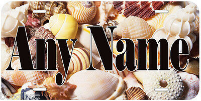 Sea Shell Aluminum Any Name Personalized Auto Car Novelty License Plate