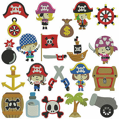 * PIRATES 1 * Machine Embroidery Patterns * 22 designs