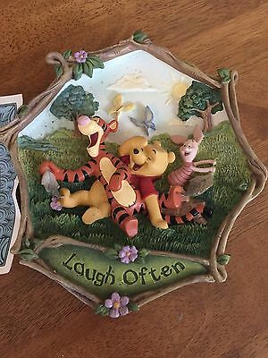 Winnie The Pooh- Laugh Often- 100 Acre Wishes Collection By Bradford Exchange