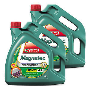 Castrol Magnatec Car Engine Oil 5w30 Ford Spec Fully Synthetic 4L + 4L = 8 Litre