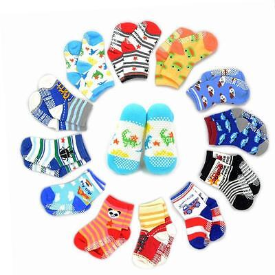 12 Pairs Anti-slip Socks SUMERSHA Assorted Kids Socks Size Ages 2-3 Unisex