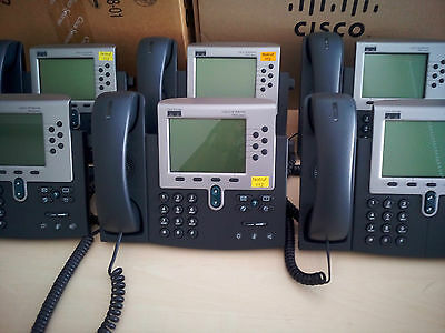 Cisco IP Phone CP-7960G 6-Button Gebraucht Used Voip w/o Lic SCCP Firmware 7960
