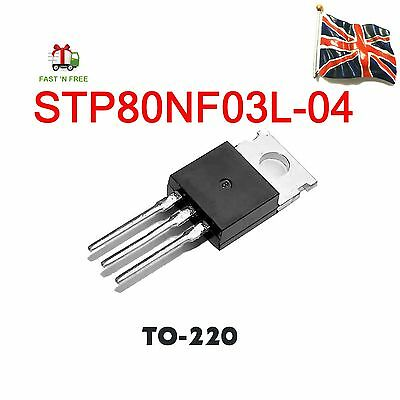 STP80NF03L-04 P80NF03L-04 ST MOSFET, N, TO-220 UK Stock