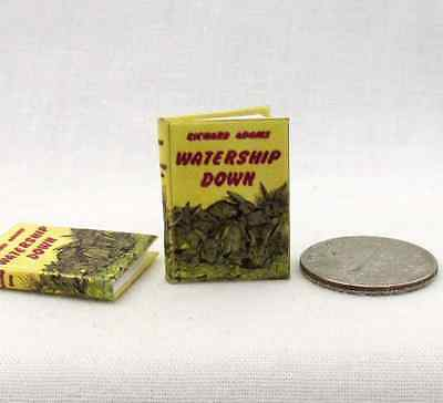 WATERSHIP DOWN Miniature Book Dollhouse 1:12 Scale Readable Book