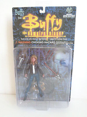 """Buffy The Vampire Slayer Action Figure """"buffy"""" In Leather Jacket - Mint On Card"""