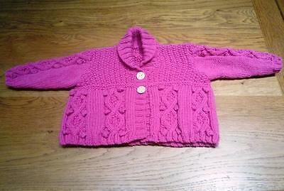 Girls hand knitted jacket Size 2-4 years