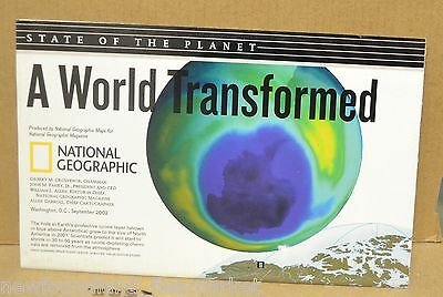 State of the Planet A World Transformed 2002 National Geographic Folded Map
