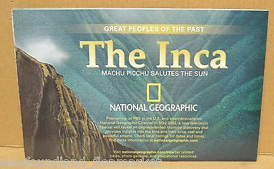 The Inca 2002 National Geographic Folded Map