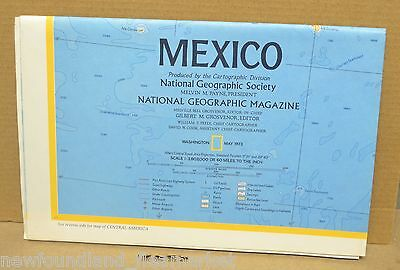 Mexico 1973 National Geographic Folded Map