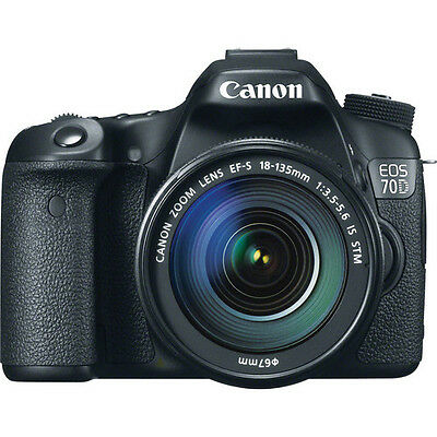 Canon EOS 70D DSLR Camera with 18-135mm f/3.5-5.6 STM Lens!! USA MODEL BRAND NEW